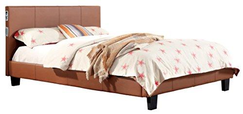 - Sanders Carmel Leatherette Platform Queen Bed with Built in Speakers