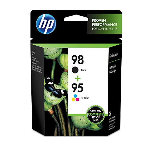(HP CB327FN 98 Black & 95 Tri-color Original Ink Cartridges, 2 Cartridges (C9364WN, C9368WN))
