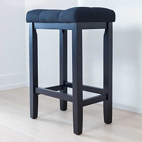 Nathan Home 21101 Hylie Wood Kitchen Counter Bar Stool, 24