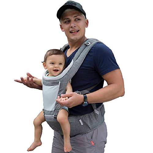 DaDa Hip Seat Baby Carrier, Airflow 360 Ergonomic Baby Carrier with hip seat for Infants and Toddler (New Generation backpack carrier ) for all seasons, perfect for nursing, hiking and traveling (Baby Seat Gear)