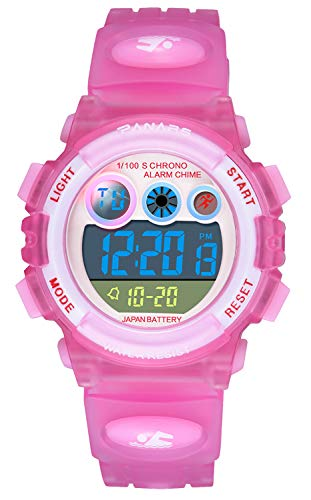 Kids Digital Watches, Boy Girl Multi Function 50M Waterproof Sport LED Alarm Stopwatch ,for Age 5-12Wrist Child Young Teen Watch