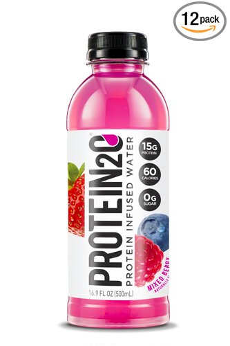 Protein2o Low-Calorie Protein Infused Water, 15g Whey Protein Isolate, Mixed Berry (16.9 Ounce, Pack of 12) (Whey Berry)