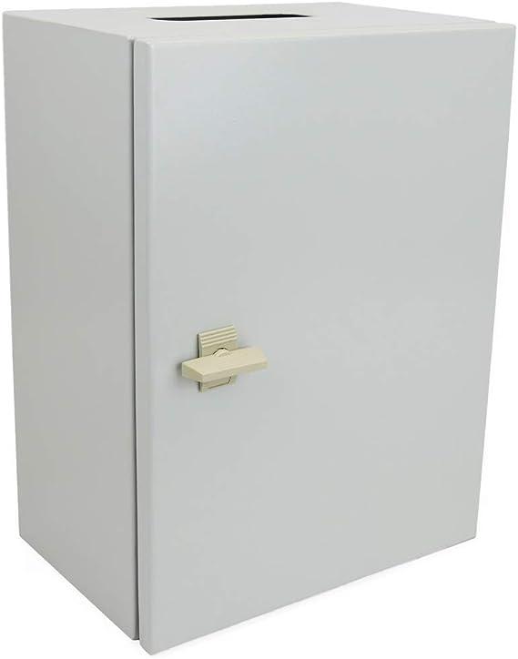 BeMatik - Caja de distribución eléctrica metálica con protección IP65 para fijación a Pared 250x200x150mm: Amazon.es: Electrónica