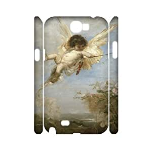 WJHSSB Cupid Cherub Customized Hard 3D Case For Samsung Galaxy Note 2 N7100