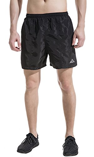 Akula Men's Athletic Shorts Bathing Swim Trunks Quick Dry Surfing Beach Shorts with Pockets Black Size - Shorts Men Pool For