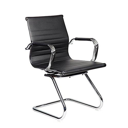 TECHNI MOBILI Modern Visitor Office Chair - Black by Techni Mobili