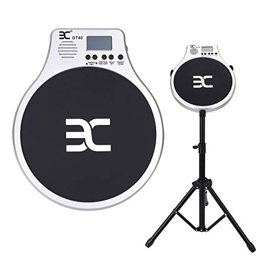EX Drum Practice Pad with Drumsticks and Stand - Portable Training Set for Kids, Beginners and Pros - Easy Assembly Drumming Kit - Lightweight, Adjustable Folding Tripod - Bags for Storage and Travel