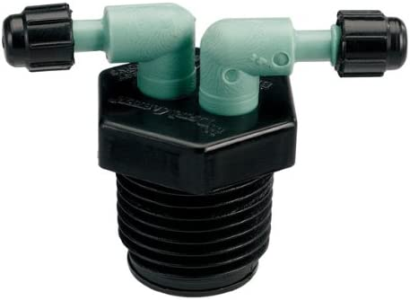 5 Pack MPT Orbit 2-Port Drip Watering Manifold for 1//4 Inch Drip Tubing
