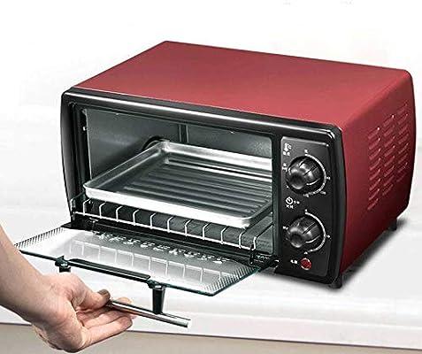 12 litros pequeño horno eléctrico, mini horno doméstico,rojo,Un ...