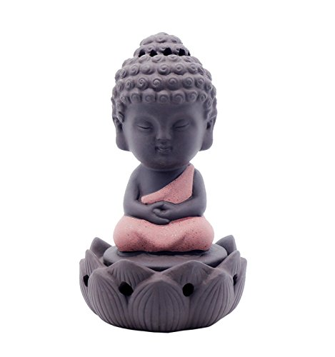 Zen Sitting Incense Burner Home Gift Creative Small Ornaments Cute Ceramic Holder-Red (Holder Cute Incense)
