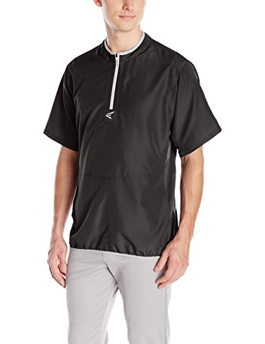 Easton Men's M5 Short Sleeve Cage Jacket, Black/Silver, XX-Large by Easton