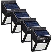 Moligh doll 4 Pcs 40 Led Solar Wall Light Pir Motion Sensor Waterproof Bulb Garden Lamp for Outdoor Garden Yard Porch Deck