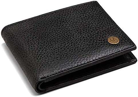 WildHorn® RFID Protected Genuine High Quality Leather Wallet for Men (Black MATT)