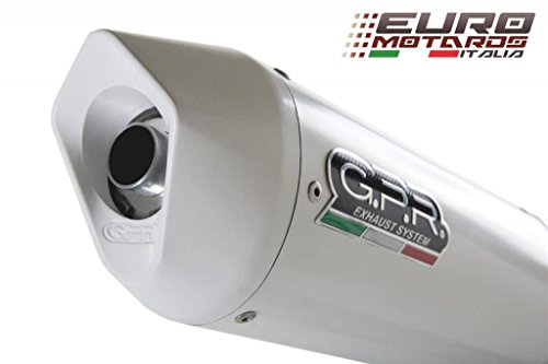 Yamaha R6 2006-2014 GPR Exhaust Systems Albus White Slipon Silencer Road Legal Arrow Exhaust R6