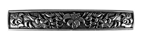 Lily Hair Clip, Extra Large Hand Crafted Metal Barrette Made in the USA with a 100mm Imported French Clip by Oberon Design