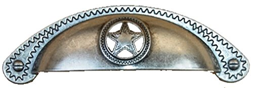 Set of 6 Bin Cup Star with Rope Drawer Cabinet Handle Western Southwest Texas Décor