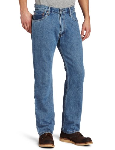 Levi's Men's 505 Regular Fit Jean, Medium Stonewash, 34x29