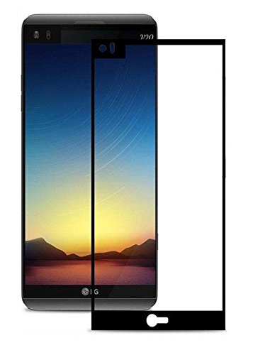 Plus HD+ Crystal Clear Tempered Glass Full Screen Coverage Protector for LG V20  Black
