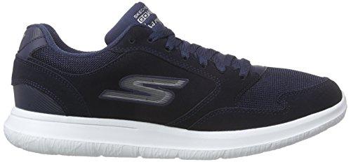 Skechers Mens Gowalk Stads Mästare Sneaker Marin / Vit