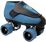 VNLA Code Blue Jam Skate - Mens & Womens Speed Skates - Quad Skates for Women & Men - Adjustable Roller Skate/Rollerskates - Outdoor & Indoor Adult Quad Skate - Kid/Kids Roller Skates (Size 11)