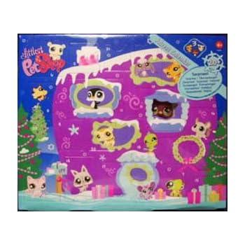 Littlest Pet Shop Figures Exclusive 2008 Advent Calendar with 3 Pets (Including Purple Penguin!)