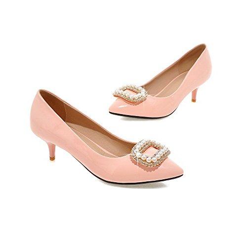 Donna Voguezone009 Pu In heels Da D Kitten Solido aqaERSHw