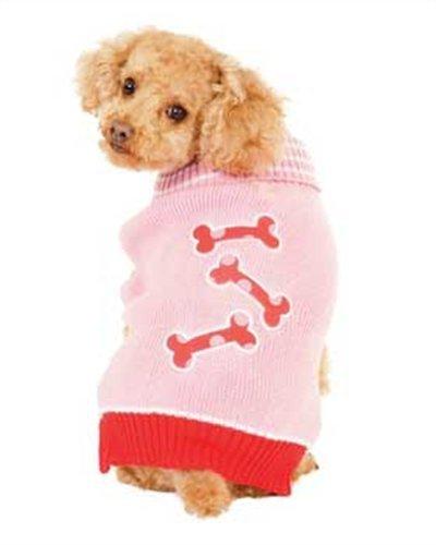 Fashion Pet Pink Bonz Dog Sweater Large, My Pet Supplies
