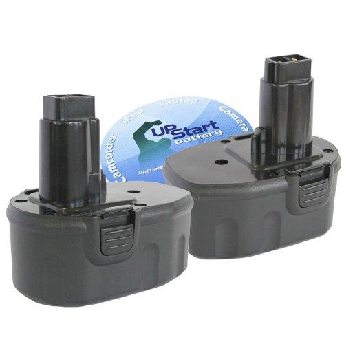 2-Pack Battery Replacement 14.4V Battery (3300mAh, NI-MH) - Compatible with DC9094, DW991K-2, DC728KA, DC9094, DW9091, DC9091, DC730KA, DCD920KX, DCD930KX, DW954, DW906, DW935, DC835KA, DC757KA, DCD935B2, DC833KA, DC835KB, DC930KA