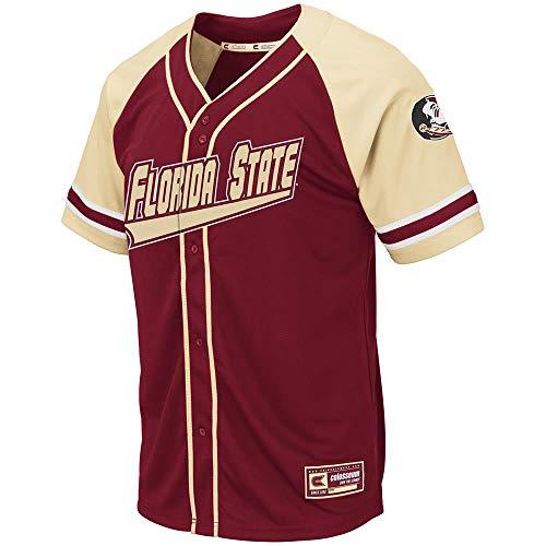 Colosseum Mens Florida State Seminoles Wallis Baseball Jersey - XL