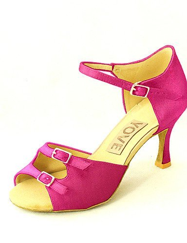 Pink Customizable Dance Women's Black Heel Latin Almond Shoes Customized Red White Fuchsia Blue ShangYi Purple Satin Salsa Yellow wq7pdFnwWE