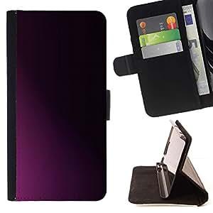 For Samsung Galaxy Note 5 5th N9200 Case , Limpie minimalista púrpura Sombra Negro- la tarjeta de Crédito Slots PU Funda de cuero Monedero caso cubierta de piel
