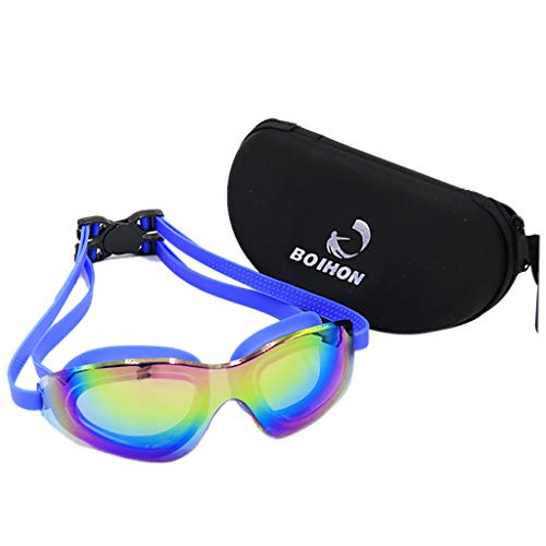 CapsA Swim Goggles,Anti Fog Swimming Goggles UV Protection Mirrored Clear No Leaking Triathlon Equipment Waterproof Professional HD Swimming Goggles - Snow Kids Shape Ski