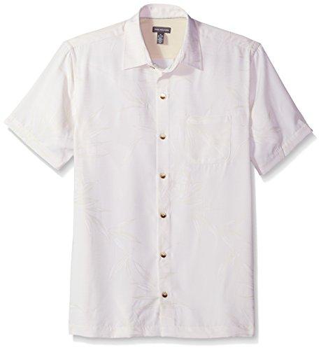 Van Heusen Men's Air Print Short Sleeve Shirt, Almond Milk, Large ()