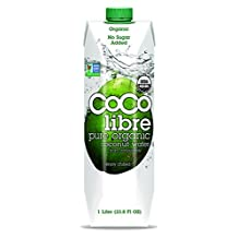 Coco Libre Organic Coconut Water, 33.8-Ounce Tetra Paks (Pack of 12) by CoCo Libre