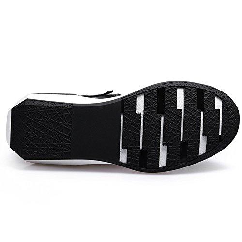 Chaussures Les White Haut Cuir Augmentent Des Fond De Décontractées De Hommes Rétro Dessus De De Épaisses Noires Des De En Marée 39 Cuir Chaussures En Chaussures Chaussures qrr4w0X