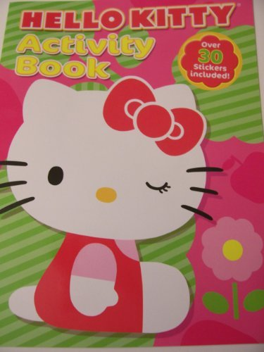 Hello Kitty Activity Book with Over 30 Stickers ~ Kitty Winking by the Flower