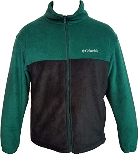Columbia Men's Steens Mountain Full Zip 2.0 Soft Fleece Jacket (Green/Black, Small) ()
