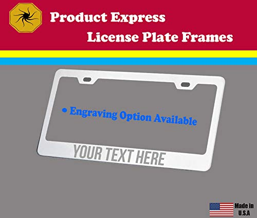 Product Express I Love My American White Shepherd Dog Cat Black License Plate Frame Tag Border 5