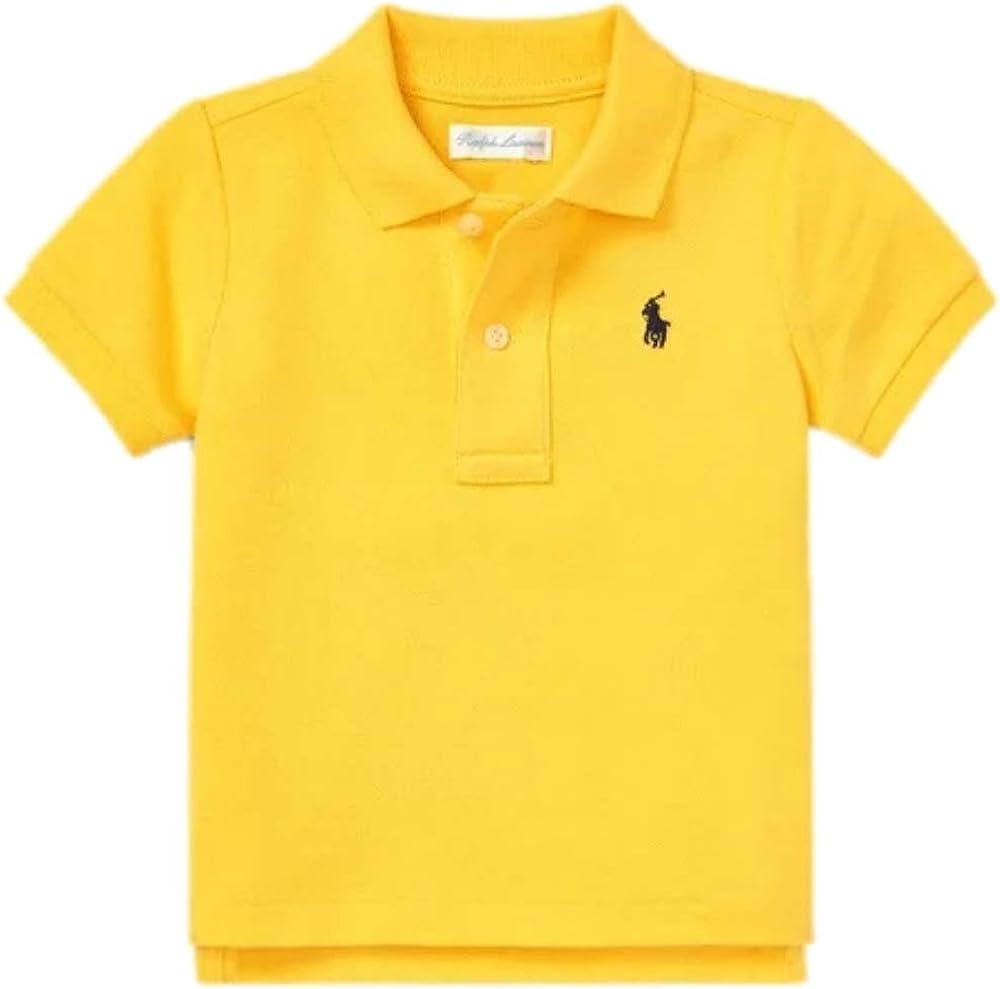 Ralph Lauren Baby Boys First Polo Shirt Bugle Yellow Age 18 mths