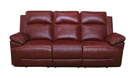 (New Classic Furniture 20-244-30-PRD Cortez Upholstery Recliner Sofa, Manual, Red)