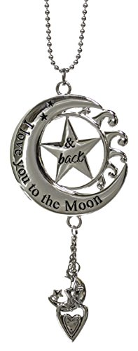 Ganz Car Charm I Love You To The Moon and Back ER27923 (Car Hanging Mirror Accessories)
