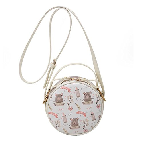 Woman Crossbody Shoulder Small Mini White Round House Versatile Bag Creative Bag color Personality White Yu · Bag Bag Liu Crossbody Girl Bag q0O7PWn