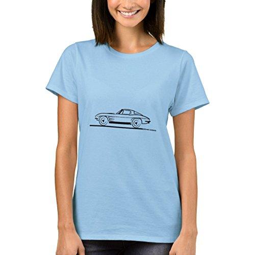 Coupe Window Split 1963 Corvette (Zazzle Women's Basic T-Shirt, 1963 Corvette Sting Ray Split Window Coupe Baby Bodysuit, Light Blue S)
