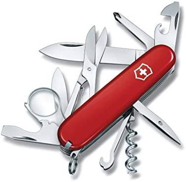 Victorinox 16703 Navaja, Offiziersmesser, Explorer, Rot, Rojo, Talla Única: Amazon.es: Bricolaje y herramientas