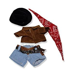 """Cowboy Outfit Clothing Fits Most 8""""-10"""" Webkinz, Shining Star and 8""""-10"""" Make Your Own Stuffed Animals and Build-A-Bear - 41axn8Q0WdL - Cowboy Outfit Clothing Fits Most 8″-10″ Webkinz, Shining Star and 8″-10″ Make Your Own Stuffed Animals and Build-A-Bear"""