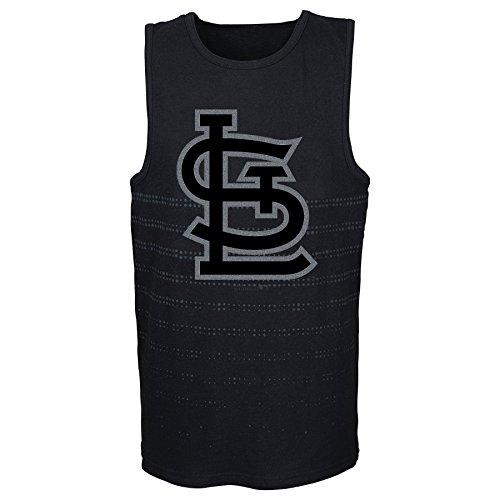 MLB St. Louis Cardinals Youth Boys 8-20 Reflection Tank-M (10-12), Black ()