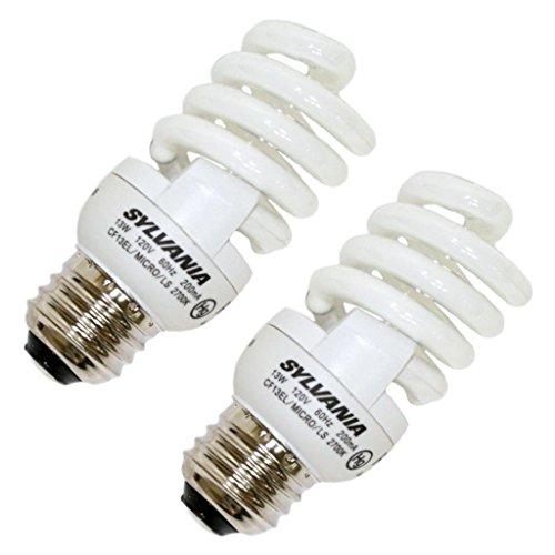 Sylvania 29972 Compact Fluorescent Micro Mini Light Bulb, 13