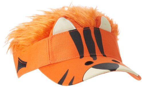 Concept One Accessories Big Boys' Flair Hair Visor Tiger Face, Orange, One Size]()