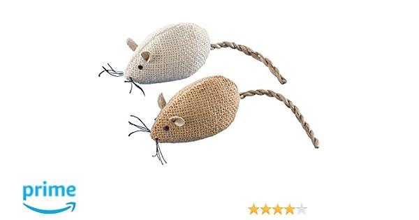 Nobby yute ratón gato juguete, 2 x 8 cm: Amazon.es: Productos para mascotas