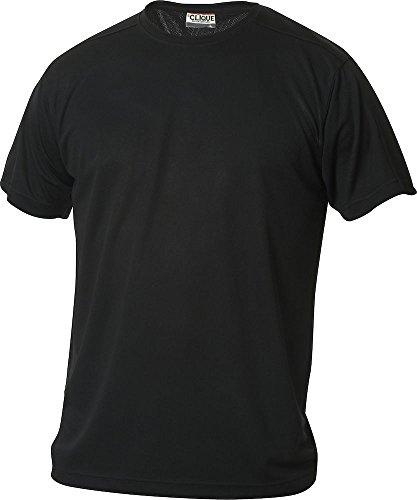 Herren Funktions T-Shirt aus Polyester von CLIQUE. Das T-Shirt für den Sport, perforiert und feuchtigkeitsabführend in Schwarz, Grösse M